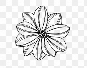 Painting - Drawing Painting Flower Coloring Book PNG