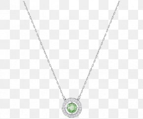 Swarovski Jewellery Women Necklace Green - Locket Necklace Chain Jewellery Pattern PNG