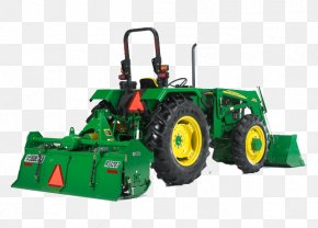 Tractor - John Deere Cultivator Agriculture Tillage Tractor PNG
