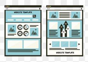 Blue Minimalist Web Design - Web Template System Web Button World Wide Web Web Design PNG