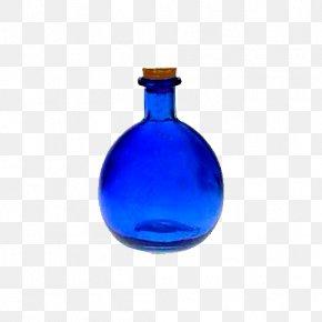 Blue Glass Bottle - Glass Bottle Potion Bottled Water PNG