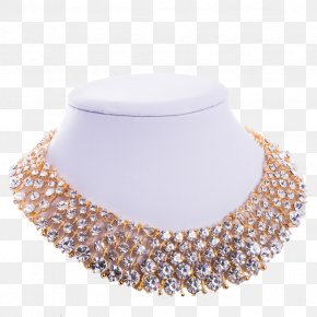 Swarovski Jewelry - Necklace Earring Jewellery Gold Choker PNG
