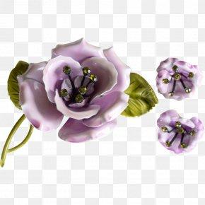 Lilac Flower - Earring Brooch Lilac Flower Purple PNG
