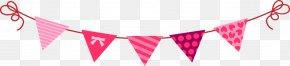 Cute Cartoon Triangle Pull Flag - Flag Computer File PNG