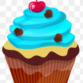 Cake - Delicious Cupcakes American Muffins Clip Art PNG