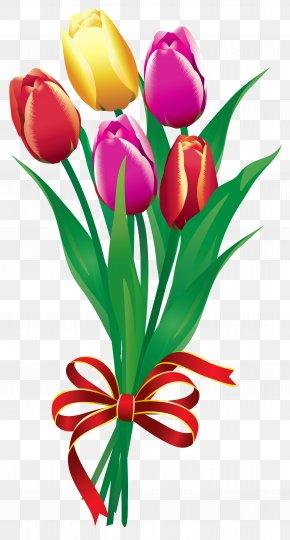 Spring Tulips Bouquet Clipart Picture - Flower Bouquet Tulip Clip Art PNG