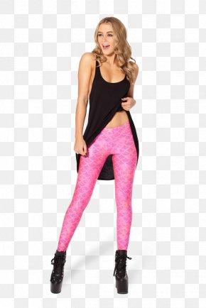 Black Barbie - Leggings Pants Wetlook Blue Pink PNG