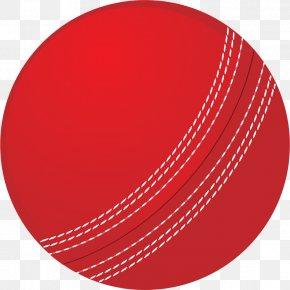 Red Cricket Ball - Cricket Balls Cricket Bats Clip Art PNG