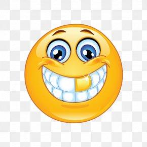 Smiley - Emoji Smiley Emoticon Gold Teeth PNG