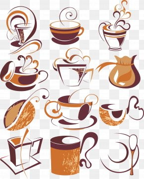 Artwork Coffee Element - Turkish Coffee Cappuccino Cafe Coffee Cup PNG