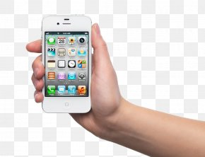 Woman Holding A White IPhone - IPhone 4S IPhone 5 Samsung Galaxy Smartphone Mobile Device PNG