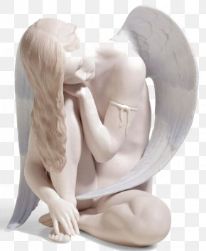 Angel Statue - Lladrxf3 Figurine Angel Porcelain Collectable PNG