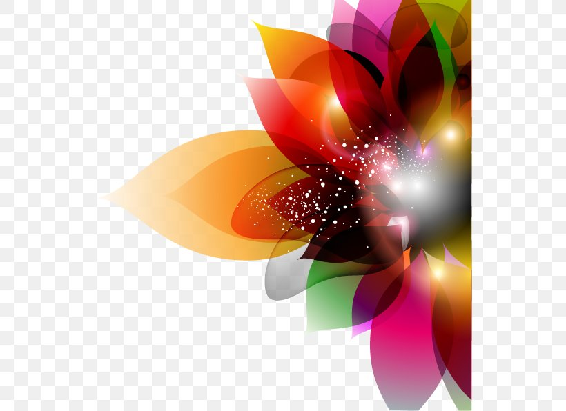 Flower Euclidean Vector Color, PNG, 549x596px, Flower, Abstract Art, Close Up, Color, Floral Design Download Free