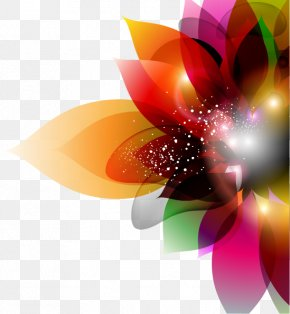 Colorful Hand-painted Flowers Vector - Flower Euclidean Vector Color PNG