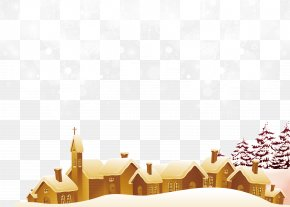 Winter Small Village Greeting Cards Texture - Santa Claus Christmas Snowflake PNG