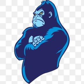 Gorilla - Western Gorilla Drawing Logo PNG