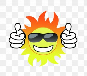 Sun With Sunglasses - Sunglasses Poster PNG