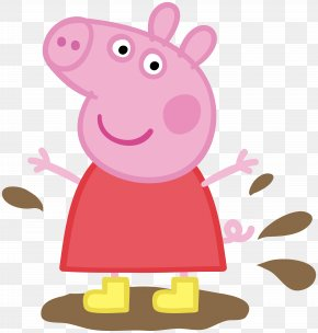 Peppa Pig In Muddy Puddle Transparent Image - Daddy Pig Mummy Pig Domestic Pig Television Show Entertainment One PNG