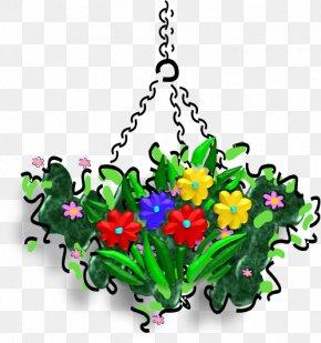 Make Your Own Plant Hangers - Floral Design Clip Art Cut Flowers Illustration Flowerpot PNG