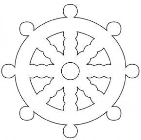 Nautical Wheel Cliparts - Car Ship's Wheel Coloring Book Clip Art PNG