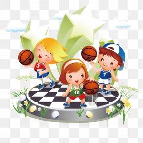 Children's Cartoon Basketball Vector Material - Basketball Sport Child Illustration PNG