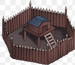 Hut Building - House Animation Architecture Castle Roof PNG
