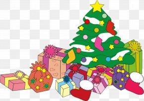 Gift - Santa Claus Christmas Tree Gift Clip Art PNG