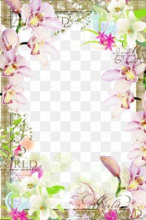Spring Flower Border - Picture Frame Clip Art PNG