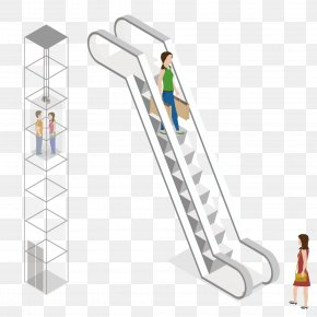 Vector Mall Walking Ladder Lift Lift - Shopping Centre Elevator PNG