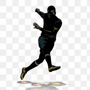 Black Football Vector Character - Football Player PNG
