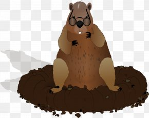 Bear Shadow Cliparts - Punxsutawney Phil Groundhog Day Clip Art PNG