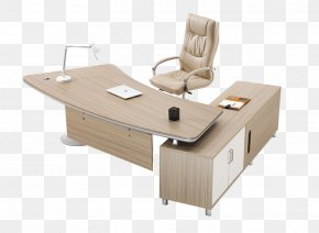 Simple Office Furniture - Table Furniture Desk Office Chair PNG
