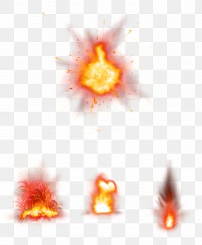 Red Fresh Flame Effect Element - Flame Spark PNG