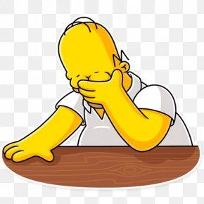 Salam Cartoon Homer Simpson - Stickers Pack Homer Simpson Telegram Clip Art PNG