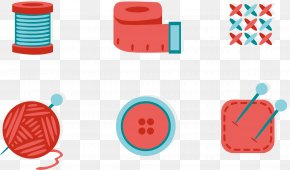 Vector Women Products - Sewing Needlework Button Icon PNG