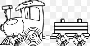 Train Outline - Train Rail Transport Passenger Car Clip Art PNG