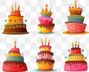 Vector Cartoon Birthday Cake - Birthday Cake Cupcake Chocolate Cake PNG