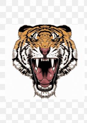 Tattoo - Big Cat Roar Siberian Tiger Clip Art PNG