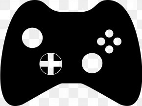 Control Cliparts - Black & White Xbox 360 Controller Game Controller Clip Art PNG