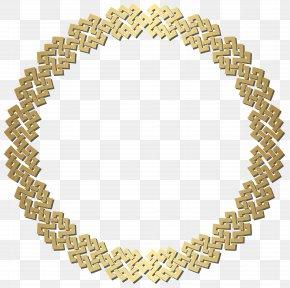 Golden Round Border Frame Transparent Clip Art - Picture Frame Clip Art PNG