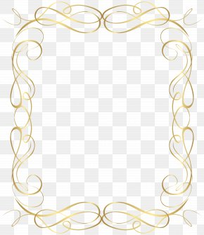 Gold - Wedding Anniversary Gold Heart Picture Frames Clip Art PNG