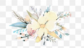 Watercolor Paint Magnolia Family - Bouquet Of Flowers Drawing PNG