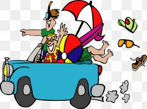 Travel,By Car,Happy - Summer Vacation Free Content Clip Art PNG