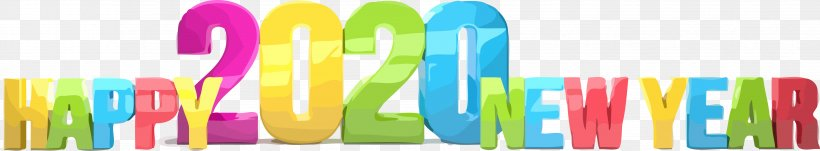 Happy New Year 2020 New Years 2020 2020, PNG, 3662x678px, 2020, Happy New Year 2020, New Years 2020, Text Download Free