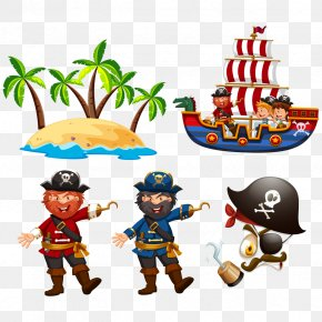 Vector Pirate Ship - Captain Hook Piracy Euclidean Vector Illustration PNG