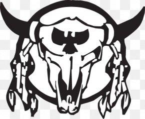 Buffalo Skull - Texas Longhorn Water Buffalo Decal Sticker Drawing PNG