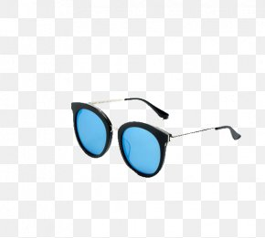 2016 Europe And Sky Blue Metal Sunglasses - Goggles Sunglasses PNG