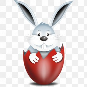 Easter Bunny Free Download - Easter Bunny Red Easter Egg Icon PNG