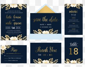 Vector Wedding Invitation Posters Taiwan Card Design Material - Wedding Invitation Flower Blue Illustration PNG