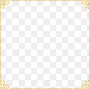 Gold Border Frame Transparent - Material Pattern PNG